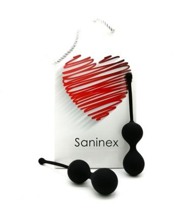 SANINEX DOUBLE CLEVER INTELIGENTES ESFERAS VAGINALES NEGRO