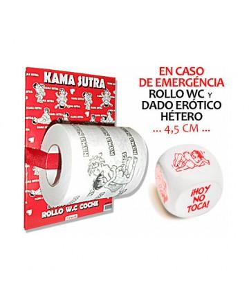 PAPEL WC KAMASUTRA y DADO POSTURAS